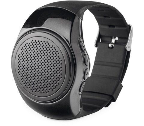 Wrist. Clock-shaped portable speaker