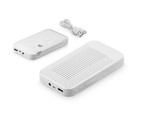 FUSION. Portable battery with speaker