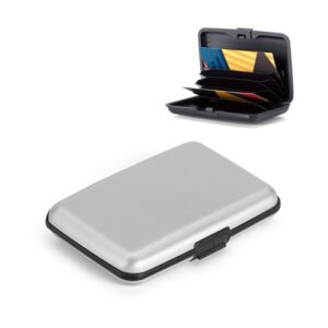 BRONI. Aluminium card holder - Satin silver
