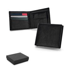 AFFLECK. Leather wallet - Black