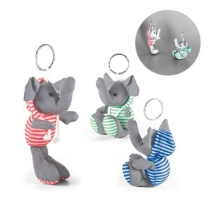 DUENA. Keyring with plush toy - Light green