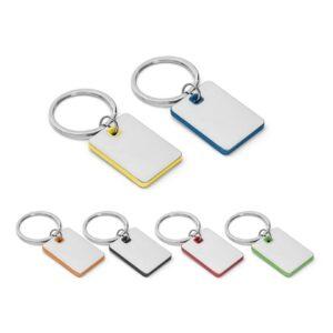 BECKET. Metal and ABS keyring - Orange