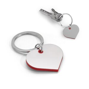 BASSO. Metal and ABS keyring - Red