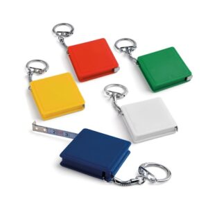 ASHLEY. Keyring with measuring tape - Green