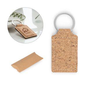 ALOY. Cork keyring - natural