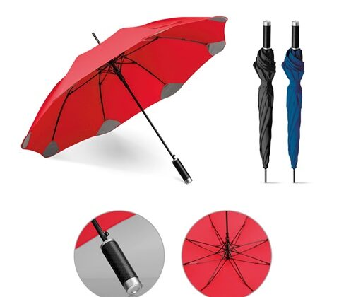 PULLA. Umbrella with automatic opening - Red