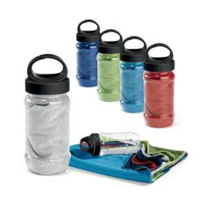 ARTX PLUS. Sports towel with bottle - Light blue